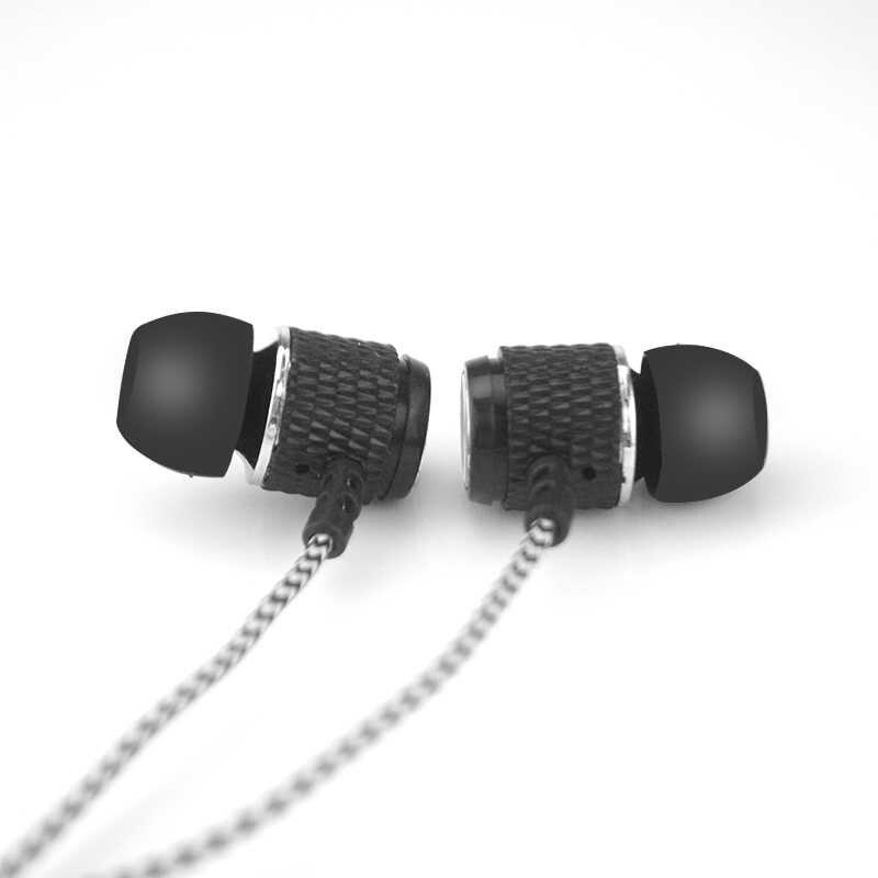 Naylon Kordon Örgülü Kablo Kulaklık Çelik Manyetik 6U Hoparlör kulak Gürültü Hifi Kulaklık IPX5 Su Geçirmez Spor
