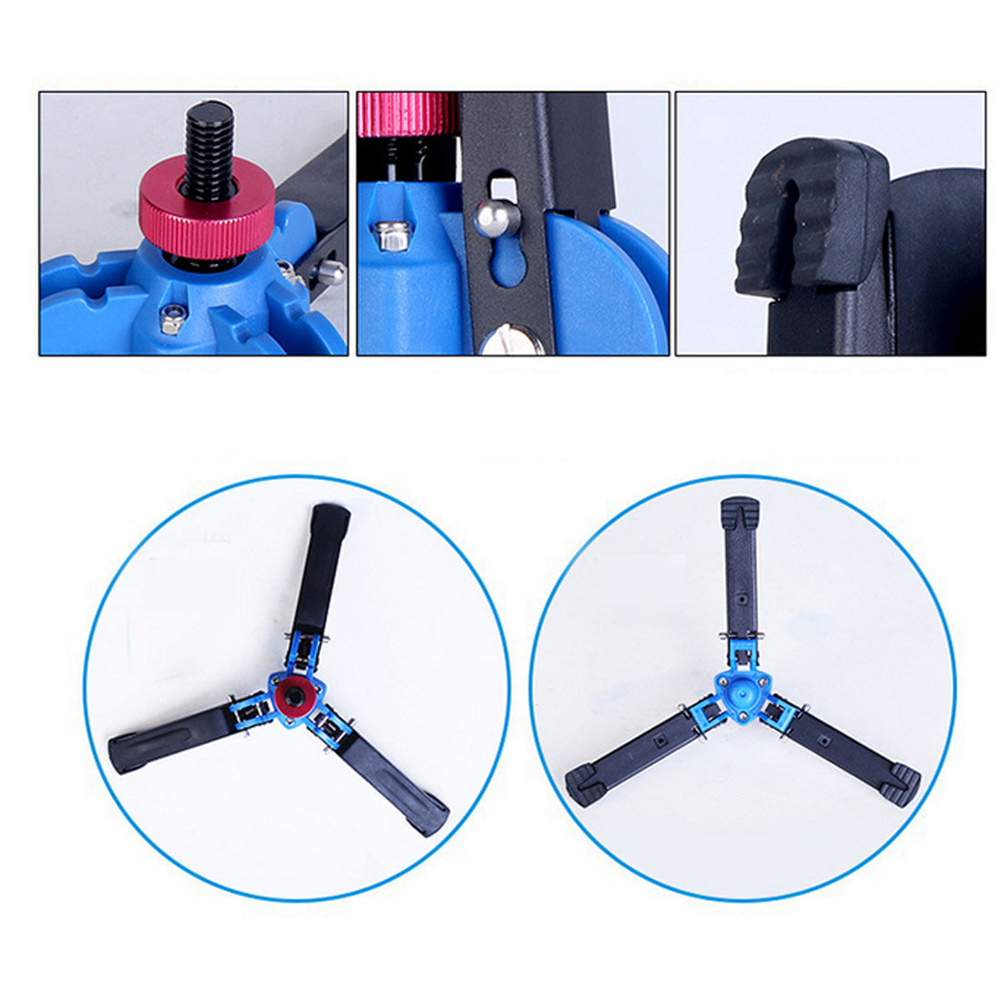 Purposeful Creative Universal Video Monopod Stand Base Monopod Tripod Manbily Mini Three Feet Support For Dslr Monopod With 3/8 Screw Live Tripods Live Equipment