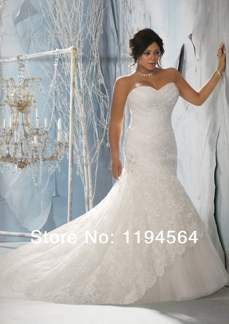 Organza White A Line Sweetheart Bridal Gowns Lace and Beaded Plus ...