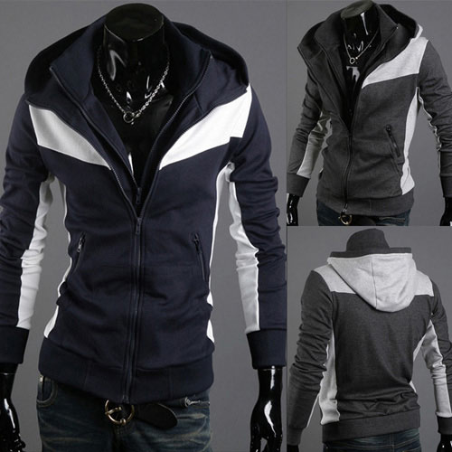 Mens Hoodie Fashion Casual  Coat