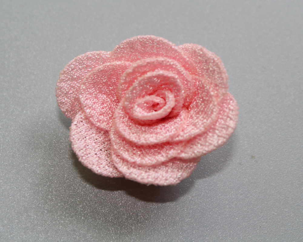 120pcs lot 1 0 inch mini Fabric Burlap Flowers Rosettes DIY Fabric Flower For Hair Accessories Children Headbands 24Colors in Hair Accessories from Mother Kids