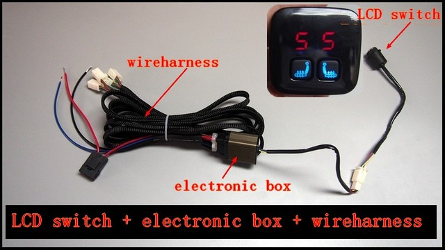 car heater car seat heat switch and wireharness only,kinds of heat Auto Wire Harness at Car Chair Wire Harness
