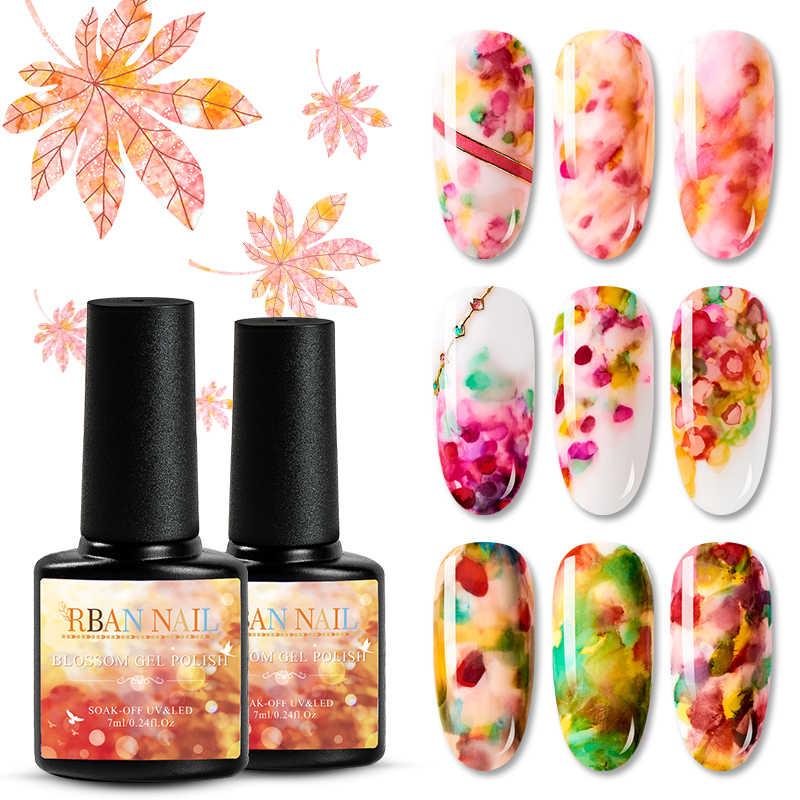 RBAN NAIL 8ML acuarela tinta esmalte de uñas floración Gel humo efecto manchas burbuja DIY esmalte para manicura decoración de uñas Salón de Arte
