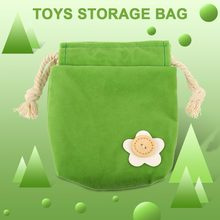 Clearance Mini Cute Portable baby Playing toys Storage Pouch Bags Flocking Cloth Simple Decoration Bag Easy to carry(China)