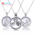 Compatible With Pandora Jewelry 2016 Autumn 925 Sterling Silver Favorite Memories Pendant Silver Necklace with Clear CZ