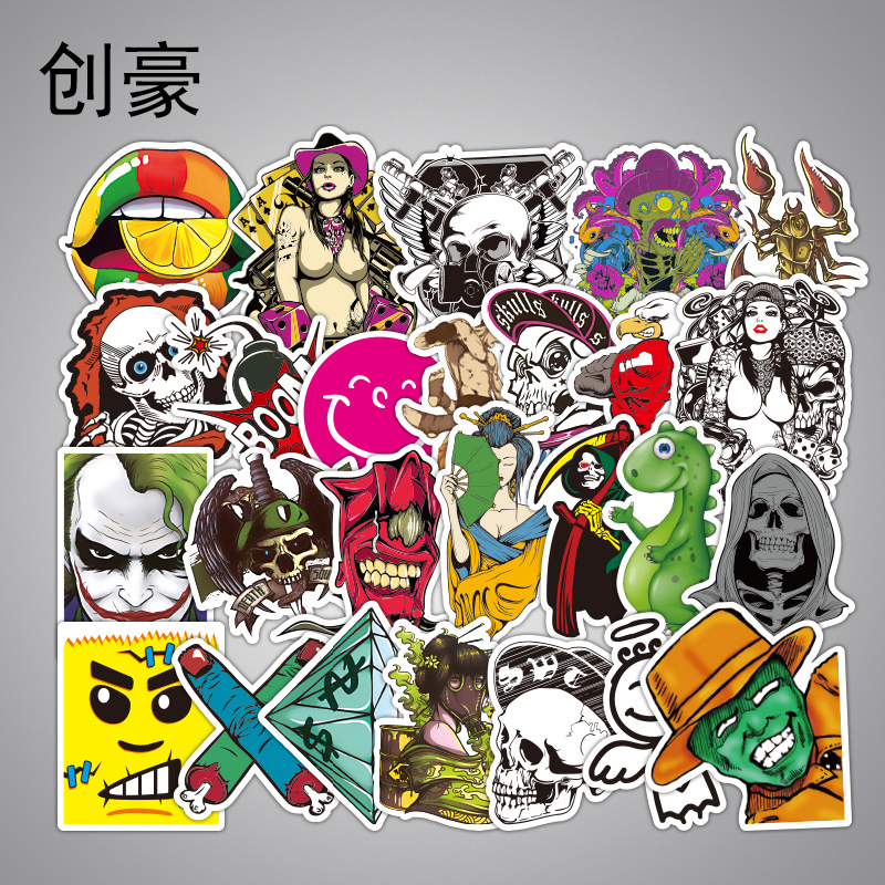 2000 Pcs Funny Kids Anime Stickers Fashion Children Graffiti Small Sticker Toys Home Decor Skateboard  Luggage Laptop Decal Toy vintage lady beauty luggage skateboard stickers pvc waterproof sunscreen car stickers 5 12cm laptop stickers