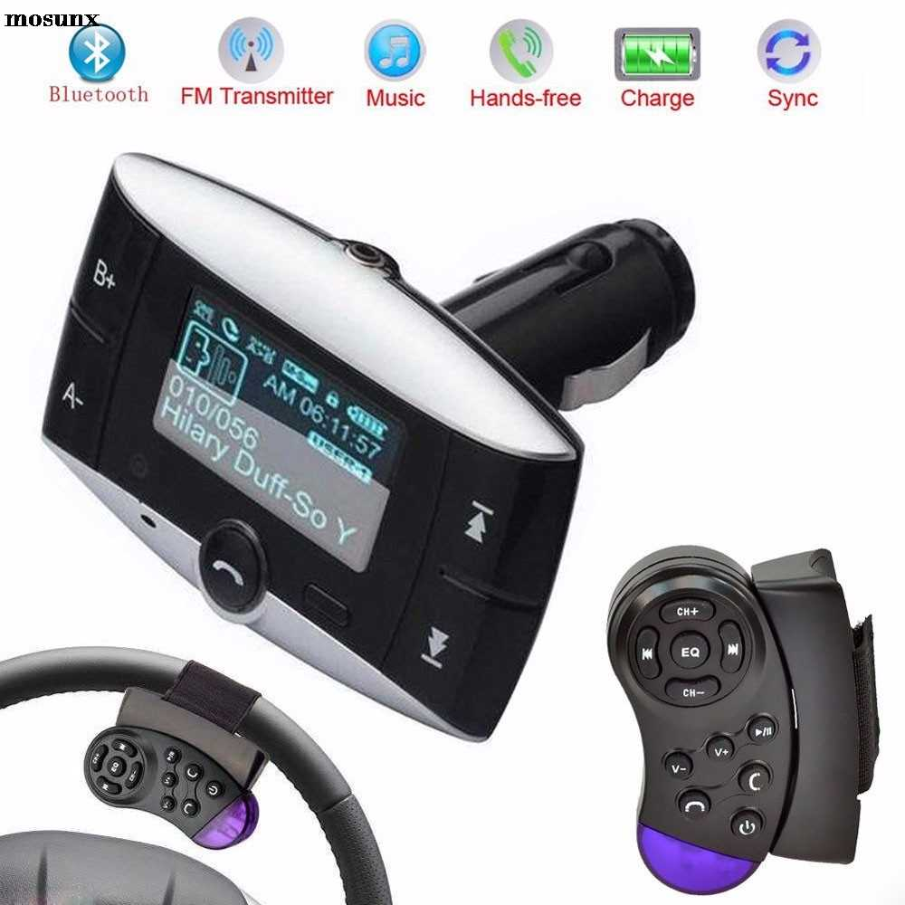 Livraison gratuite 1.5 LCD voiture Kit lecteur MP3 Bluetooth FM transmetteur modulateur SD MMC USB télécommande mains libres voiture électronique