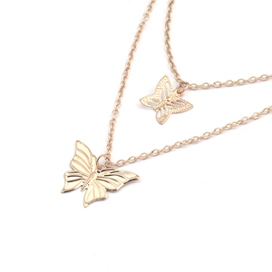 Женские Длинные Подвески в виде бабочки, в простом стиле, 2 цвета