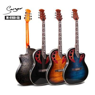Guitares guitare électrique Esp guitare 41 pouces 24 frettes épicéa massif unisexe Initiative adaptation trou de raisin électro