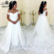 OKOUFEN Wedding Dress 2019 Chapel Train Dresses For