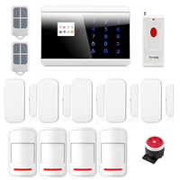 Wireless GSM PSTN Home Security Alarm System Android iOS APP PIR Sensor Smoke Sensor Newest Emergency Button 8218G