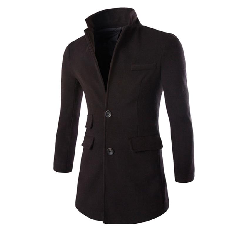 2017 Winter Lange Übergroßen Trenchcoat Für Männer Slim Fitness Drehen Unten Kragen Mantel Männlichen Mantel Outwear Manteau Homme Plus Größe