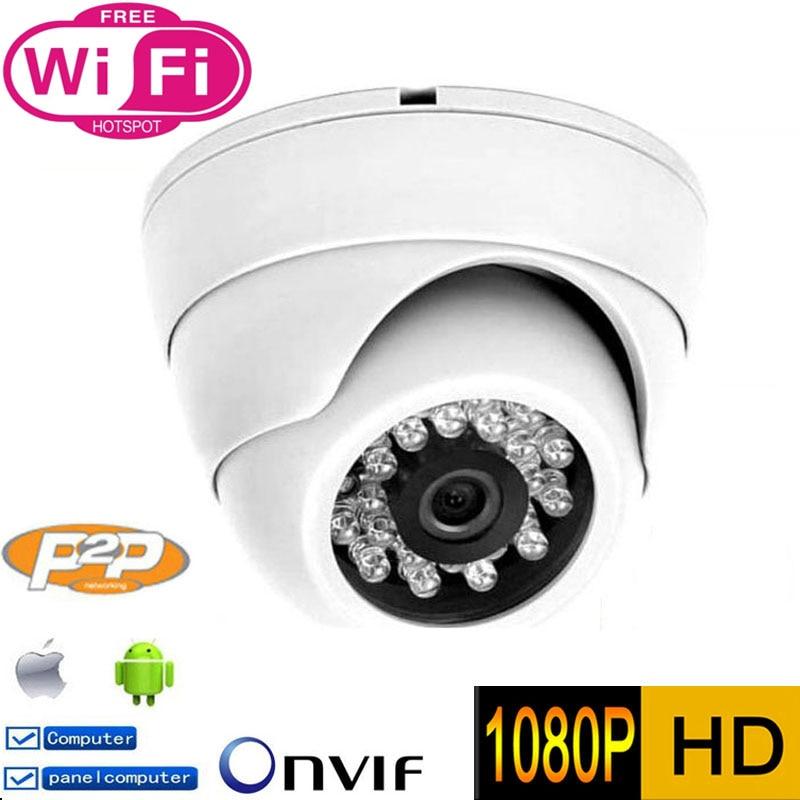 1080 P Câmera IP wifi P2P 2MP HD de Segurança CCTV Interior Cam vigilância ONVIF H.264 IR Cut Night Vision câmera Dome De Rede Camara