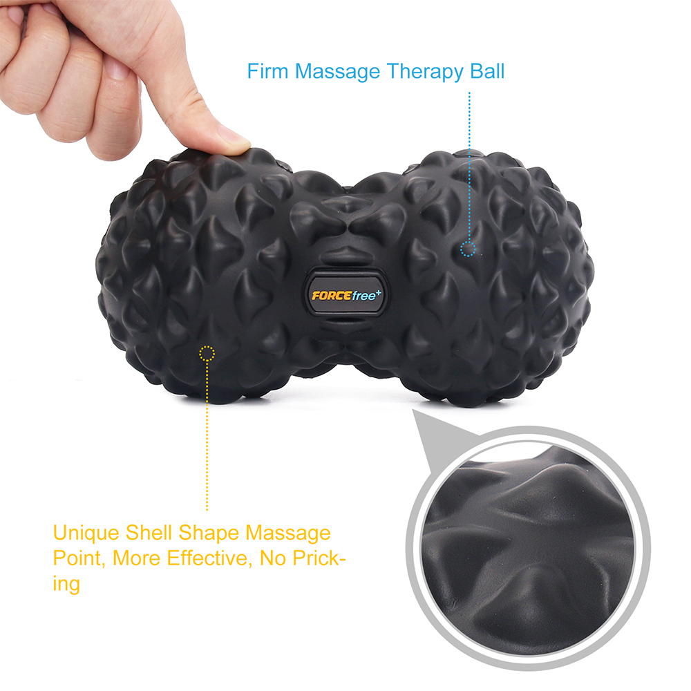 Forcefree+ PU Fitness Ball Therapy Massage Balls Peanut Lacrosse Mobility 1
