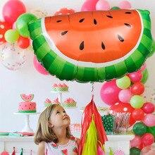 Wholesale 48*67cm 50pcs/lot Giant Watermelon Balloon Kids Birthday Party Decorations helium Globos Fruits Aluminium Foil Ballons