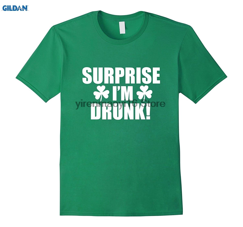 Возьмите 100% хлопок o-образным вырезом печатных футболка сюрприз IM пьяный смешные футболки День Святого Патрика впустую ...