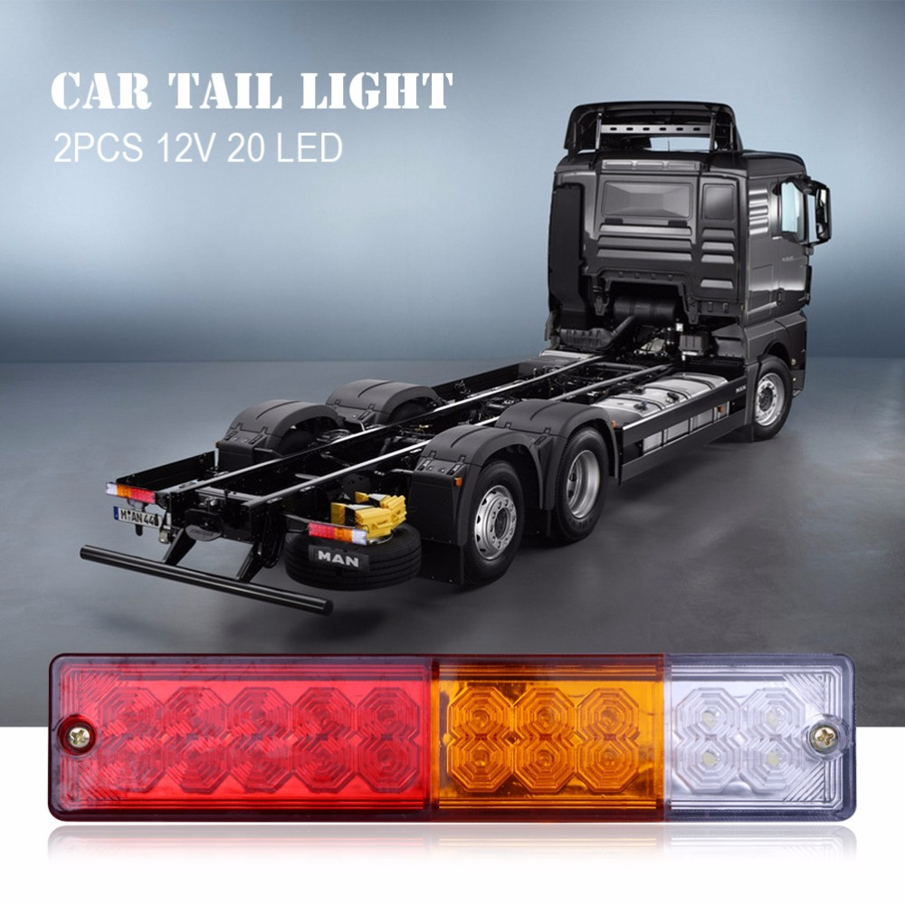 2pcs 12V Waterproof 20leds ATV Trailer Truck LED Tail Light Lamp ...