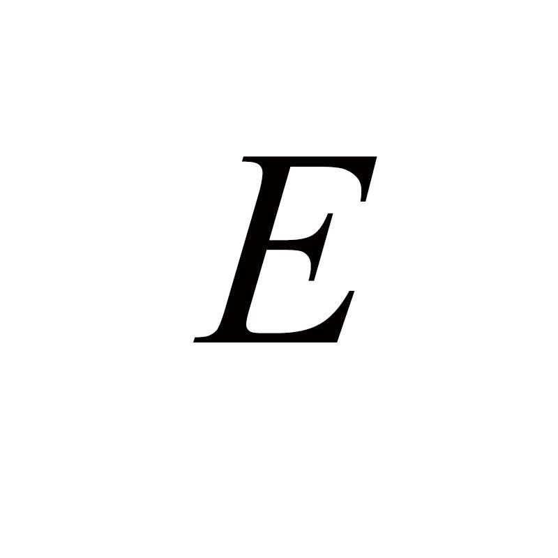 Персонализированные ручные штампованные A-Z, 26 букв, начальные крошечные кольца в виде сердца для женщин, золотые кольца на палец, ювелирные изделия - Цвет основного камня: E