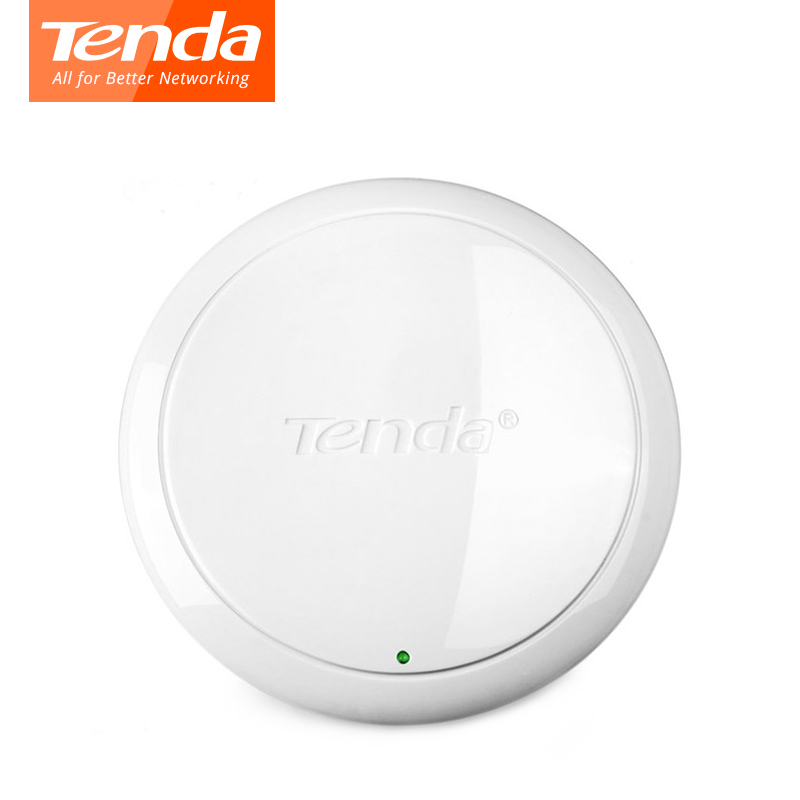 Tenda i9 N300 Ceiling Wireless WiFi Access Points,300Mbps Indoor AP 802.11b/g/n WiFi Repeater, 300m2 WiFi Coverage,20 Users,POE
