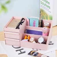Extra Large Cosmetic Storage Box With Drawer Function Lipstick Storage Box Plastic Cosmetic Case Dressing Table Skin Care Rack