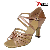 Evkoodance Latin Shoes Woman 2017 4 Different Colors Heel Customized Dance Shoes Latin Evkoo 168
