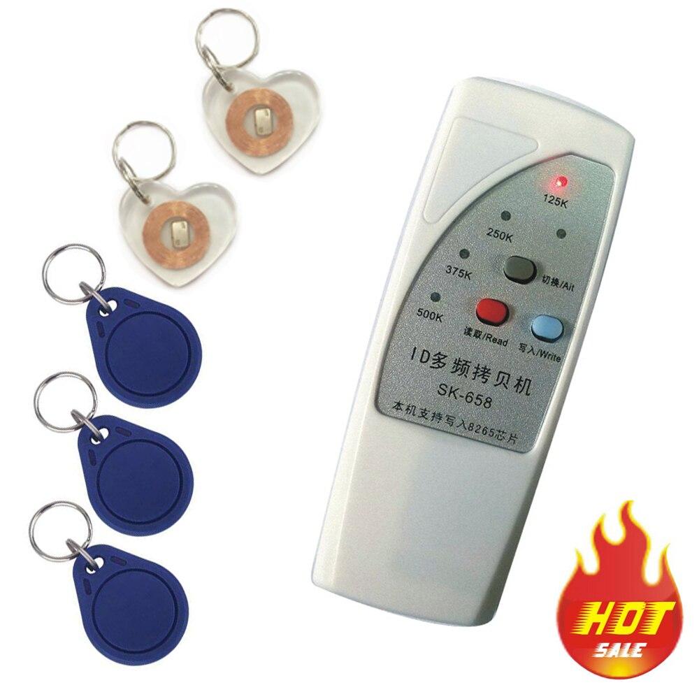 4 tipi di frequenza RFID Copiatrice/Duplicatore/Cloner ID EM reader e writer + 10 pz riscrivibile portachiavi