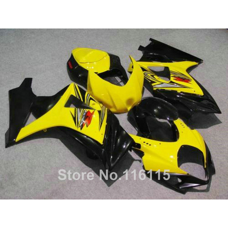 Motorcycle fairing kit for SUZUKI GSXR 1000 K7 K8 07 08 GSXR1000 2007 2008 yellow black ABS plastic fairings set JS36 abs plastic fairing kit for suzuki gsxr1000 2007 2008 k7 gsxr 1000 07 08 red black moto fairings set cb34 7 gifts
