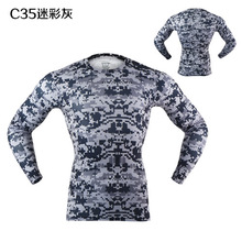Camouflage Breathable Perspiration Tight Clothes Men Cycling Bike Bicycle Long Sleeves DH Downhill Jerseys Shirts MTB