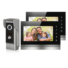 Buy online FREE SHIPPING NEW 7″ Color Screen Video Door Phone Doorbell Intercom System 2 Touch Key Monitors Night Vision Waterproof Camera