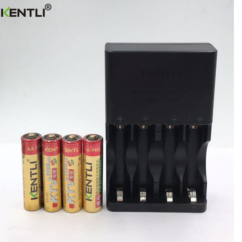 No memory effect 4pcs KENTLI 1.5V AA PK5 2800mWh rechargeable lithium li-ion  batterie+ 4 slots AA AAA polymer lithium charger new 8pcs 1 5v aa lithium polymer rechargeable battery 3000mwh 4 slots usb charger 2a li ion cell replace ni mh type battery