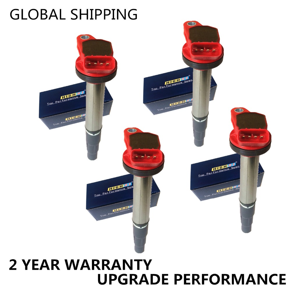 Set of 4 PERFORMANCE IGNITION COILS FIT TOYOTA Corolla Matrix Prius Scion XD PONTIAC VIBE CT200h