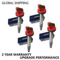 Conjunto de 4 rendimiento bobinas de encendido para TOYOTA Corolla Matrix Prius Scion XD PONTIAC VIBE CT200h 2 ZRFAE 2 ZRFE 2 ZRFXE ZRE186 1,8
