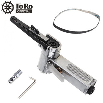 10mm Pneumatic Air Belt Sander (10x330mm) Drawing Machine Polishing Grinding Die-casting Aluminum Tools with 2pcs Sanding Belts new design 10mm 330mm air belt sander pneumatic belt sander
