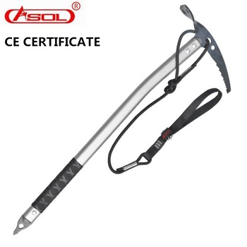 ASOL TOP Quality Outdoor Professional Ice hammer Climbing Rock Ice axe Ice climbing equipment hammer with wrist bands