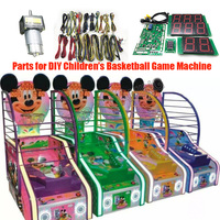 Basketball game kit with motherboard and wires for DIY Arcade Coin operated Street Chilren Basketball Games Machine