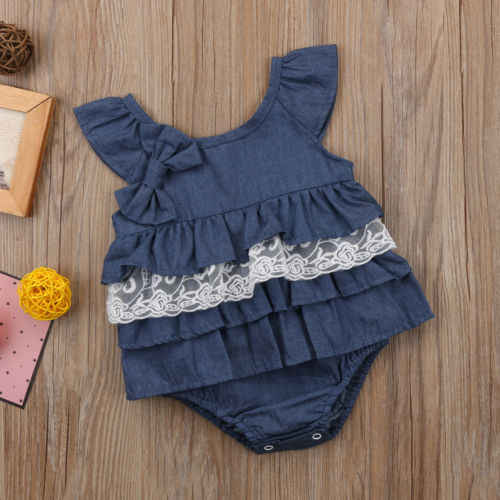 69492090b4b9 Detail Feedback Questions about Pudcoco New Cute Bowknot Jeans Romper Baby  Girl Lace Floral Romper Jumpsuit Newborn Summer Denim Tutu Dress Clothes  Outfit ...