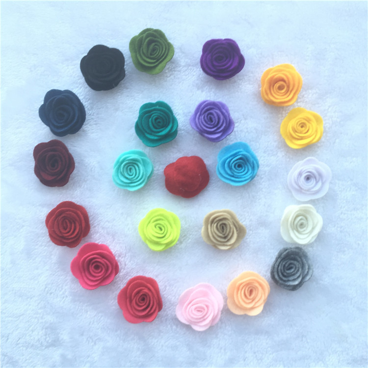 NEW 1.8inch Fashion non-woven fabrics felt rose flower Diy for hair accessories headband ornaments 10pcs 2016 new wholesale felt rose flower with leaves headband girls hair accessories diy findings