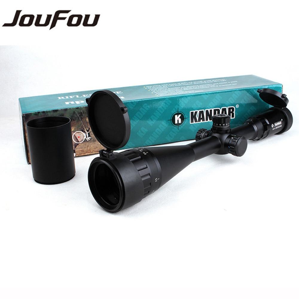 KANDAR 4-16X50 AOE Rifle Scope Hunting Mil-dot Reticle Tactical Optical Sights Locking Resetting Riflescope with 11 or 20mm Ring 4 16x44 aoe tactical optical sight riflescope mil dot hunting rifle scope with sunshade