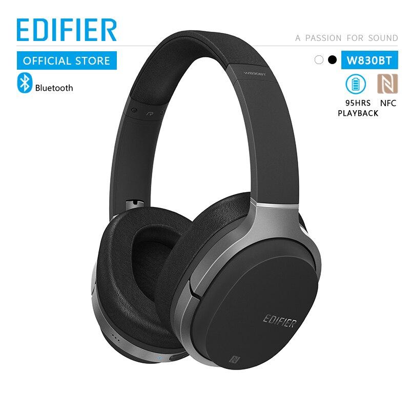 Edifier w830bt fones de ouvido sem fio bluetooth v4.1 aptx codec nfc tech com 95 horas de reprodução sem fio
