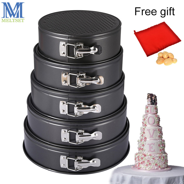 ad9d4428ddb2a US $6.69 39% OFF|Kitchen Cake Baking Pan Round Shape Non stick Cake Mold  Steel Springform Pan Set Removable Bottom Cake Decorating Tools on ...