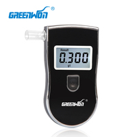 Digital Alcohol Breath Tester Sensor Breathalyser Backlit LCD With 5pcs Mouthpieces And Blue LCD Display