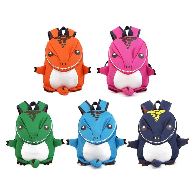 Cartoon 5 Colors Children Backpack 1-6 Kids Kindergarten Dinosaur Backpacks  School Bags For Boy 9d58bec028d2f