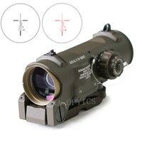 Тактический прицел 1x 4x фиксированный двухцелевой оптический прицел подсвеченный красным красный точечный прицел для стрельба из винтовки