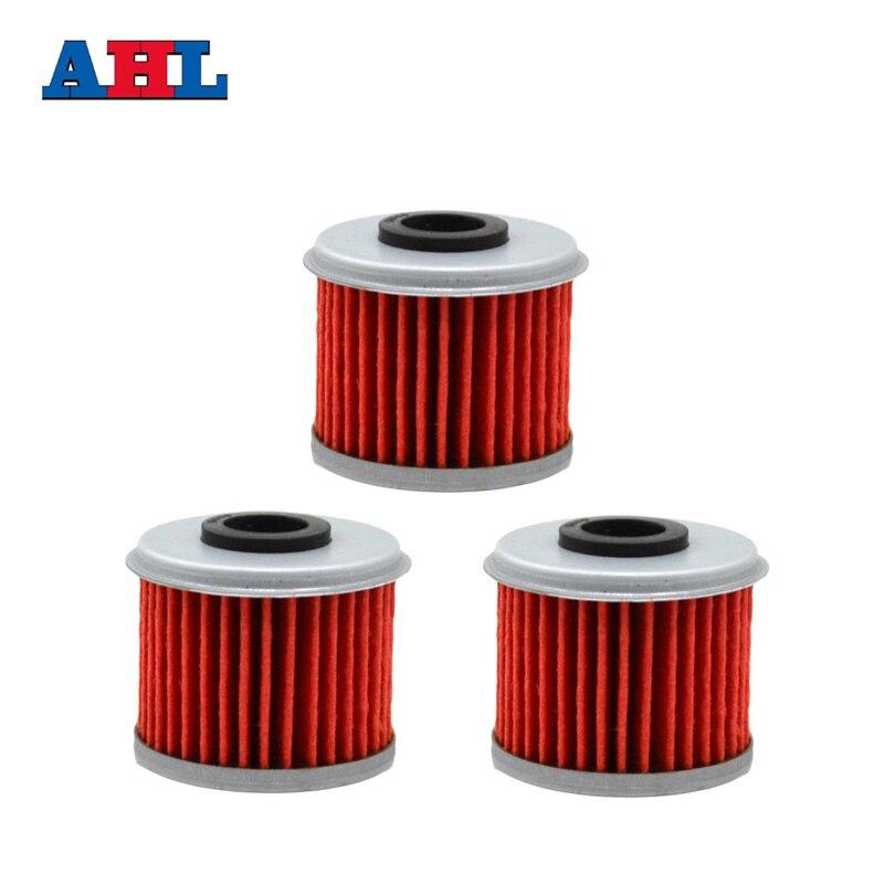 فیلترهای روغن موتور قطعات موتور سیکلت 3Pcs برای HONDA CRF450R CRF 450R CRF450 R CRF 450 R 444 2002-2012 فیلتر موتور