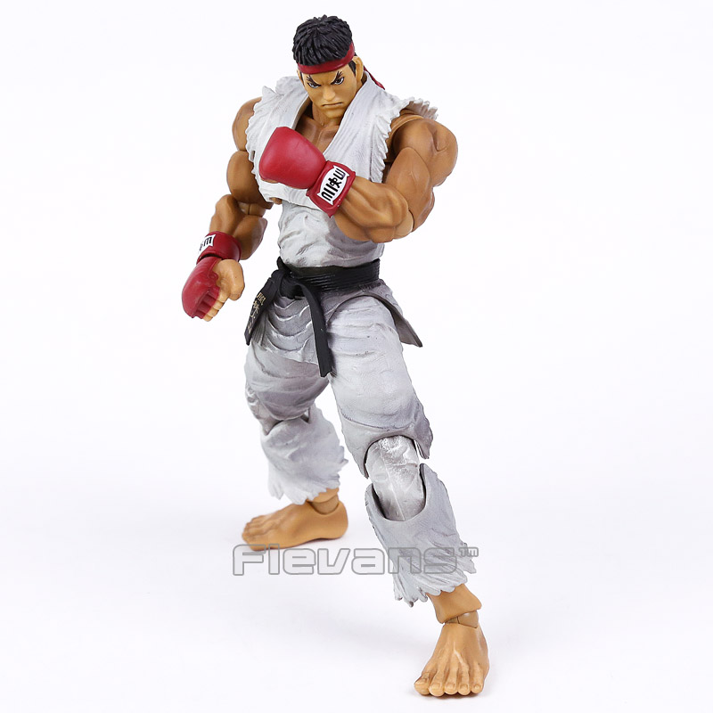 PLAY ARTS KAI Street Fighter IV 4 Ryu PVC Action Figure Collectible Model Toy super street fighter iv akuma gouki white variant play arts kai action figure