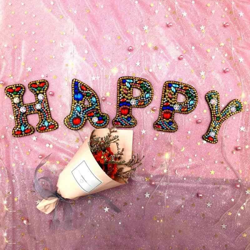 Самодельный брелок Алмазная картина буквы женская сумка для девочек брелок-подвеска подарок специальная форма Набор для начинающих Алмазная вышивка крестиком