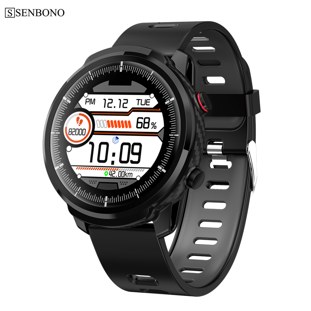 SENBONO S10 Smart Watch Men Waterproof Multiple Sports Mode Heart Rate Monitoring Weather Forecast Smartwatch for