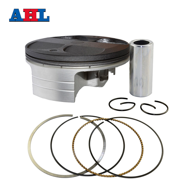 Motorcycle Engine Parts STD <font><b>Cylinder</b></font> Bore Size 77mm Pistons & Rings Kit For KAWASAKI KXF250 KX250F 2004-14 <font><b>SUZUKI</b></font> RMZ250 2004-06 image