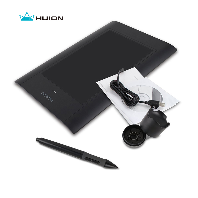 Promotion New Huion 580 8 Professional Signature Graphic Tablet Painting Drawing Pen Tablets Handwriting Boards Black And White huion h580 8 x 5 inch interactive digital graphic tablets professional signature tablet handwriting boards with functional keys