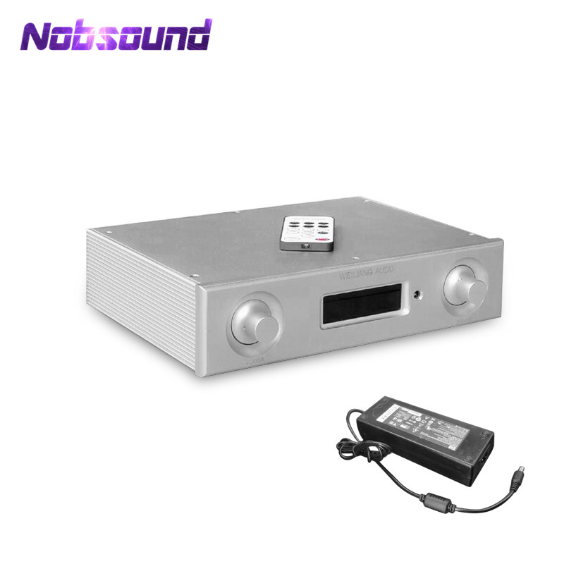 2018 Nobsound High end Remote Control 6 (5.1) Channel Digital Amplifier TPA3116 Amplifier With Power Supply tpa3116 digital power amplifier board 12 24v high power finished plate with a switch potentiometer and then a single channel